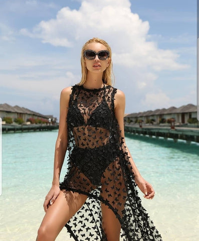 Butterfly cover up dress