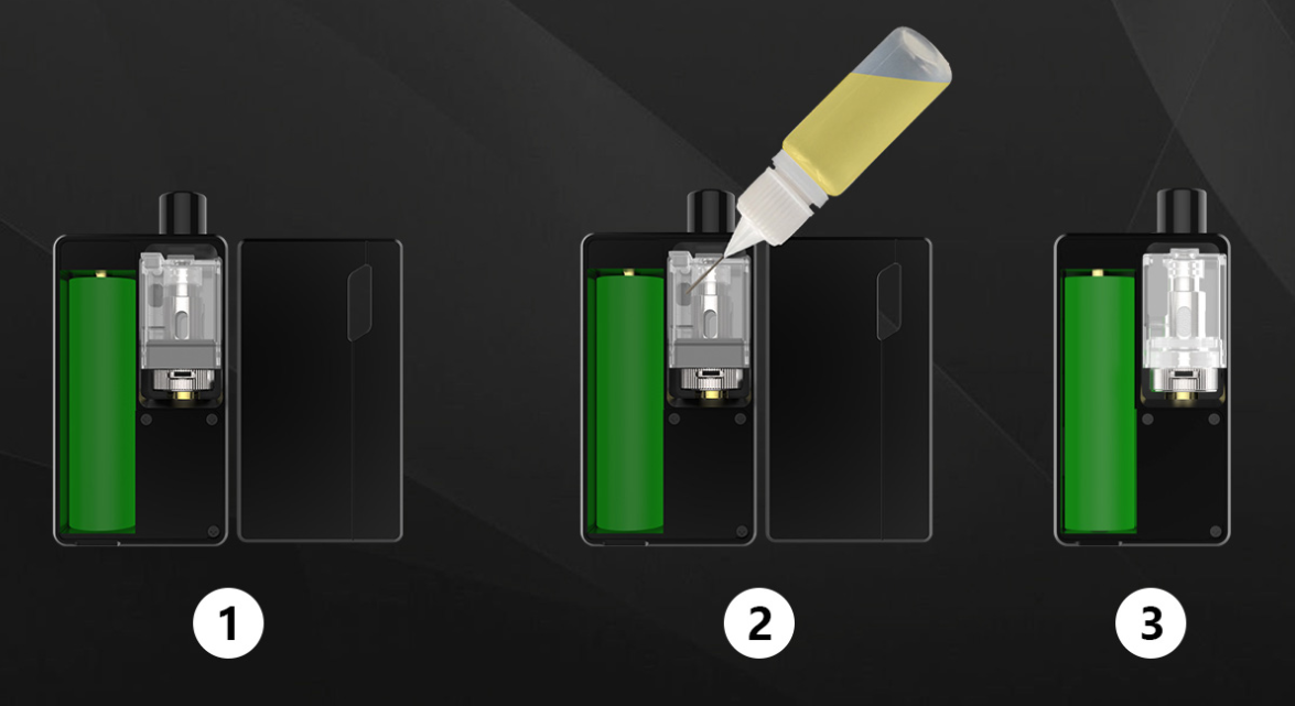 How to fill with E-liquid