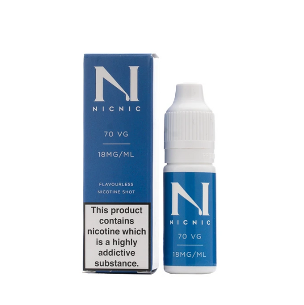 Nic Nic 70VG Nic Shot 18mg 10ml