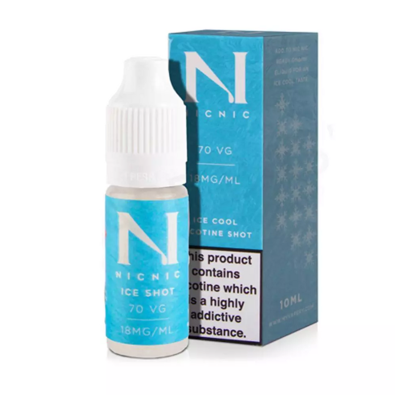Nic Nic 70vg Ice Nic Shot 18mg 10ml
