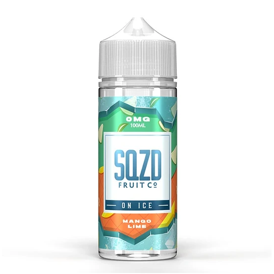 SQZD On Ice Mango Lime Shortfill 100ml