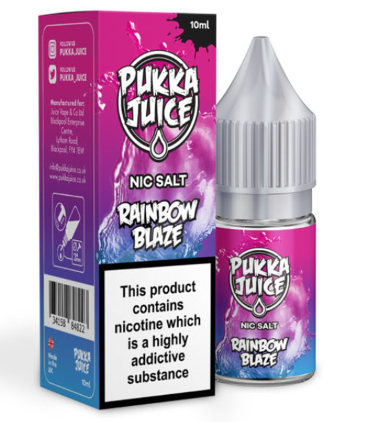 Pukka Juice Rainbow Blaze Nic Salt 10ml