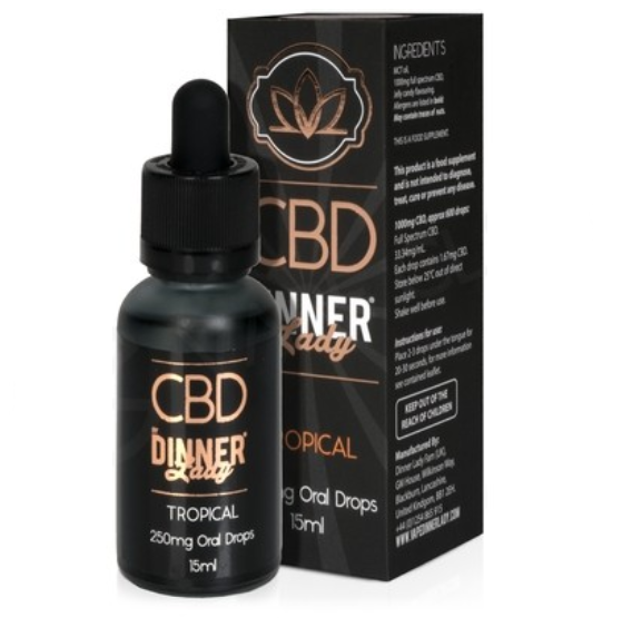 Dinner Lady CBD Tropical Oral Drops
