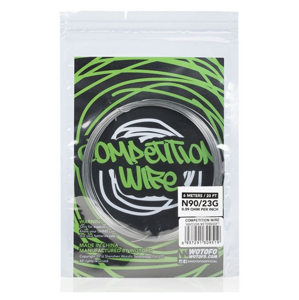 Wotofo Ni90 Competition Wire 23G/26G 20ft Pack
