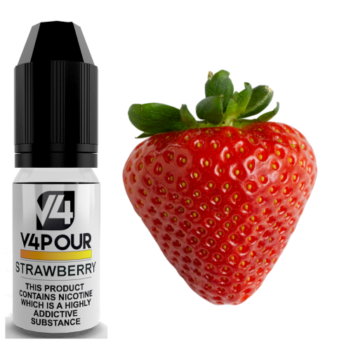V4 Vapour Strawberry E-liquid 10ml