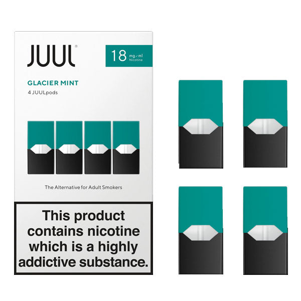 JUUL Glacier Mint Nic Salt E-Liquid Prefilled Pods 4PCS