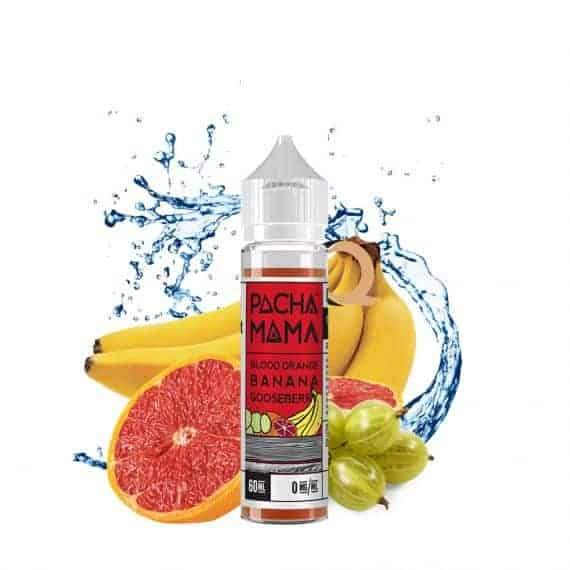 Pacha Mama Blood Orange Banana Gooseberry Shortfill E-liquid 50ml - NewVaping
