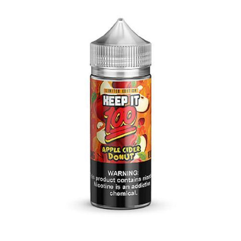 Keep It 100 Apple Cider Donut Shortfill E-liquid 100ml - NewVaping