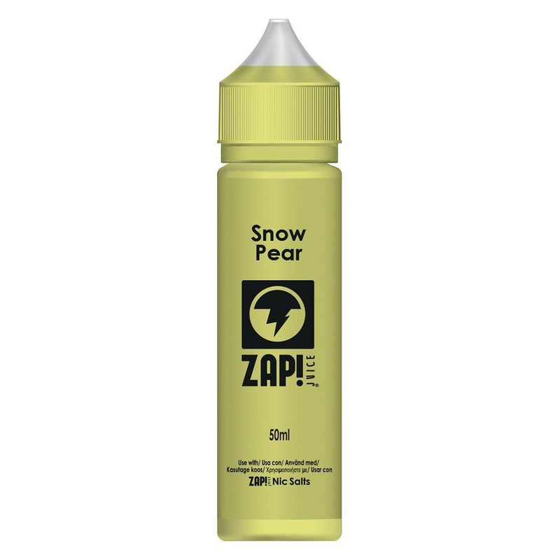 Zap! Juice Snow Pear Shortfill E-liquid 50ml (Free Nic Salt Included) - NewVaping