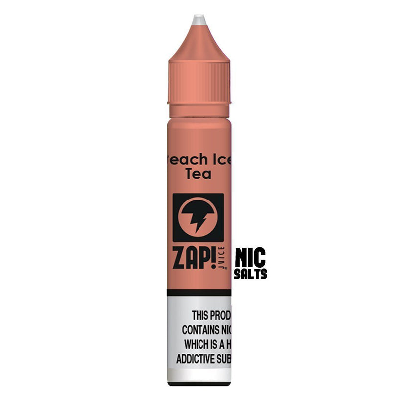 Zap! Juice Peach Ice Tea Nic Salt E-liquid 10ml - NewVaping