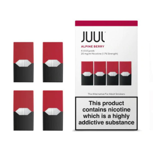 JUUL Alpine Berry Nic Salt E-Liquid Prefilled Pods 4PCS