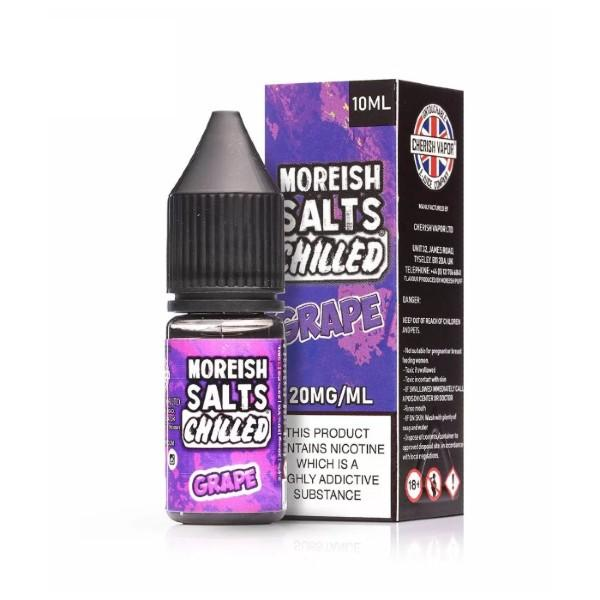 Moreish Puff Grape Chilled Nic Salt E-liquid 10ml