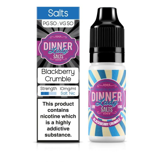 Dinner Lady Blackberry Crumbles Nic Salt E-Liquid 10ml