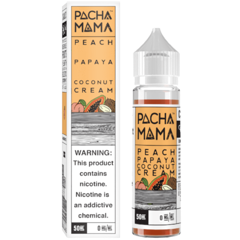 Pacha Mama Peach, Papaya and Coconut Cream Shortfill 50ml