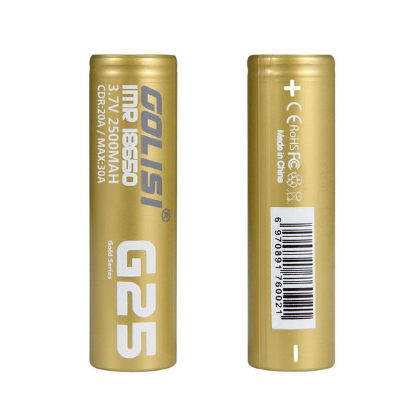 Golisi G25 18650s Li-ion Battery 2PCS - NewVaping
