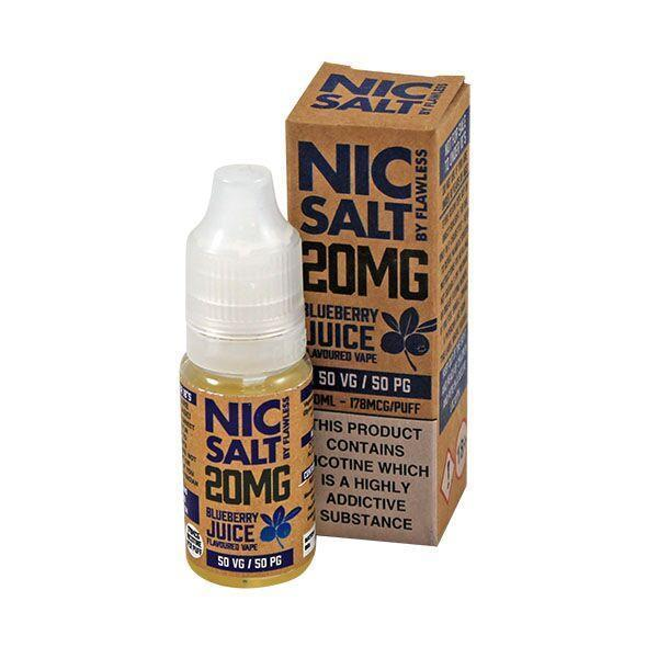 Flawless Blueberry Juice Nic Salt E-liquid 10ml - NewVaping