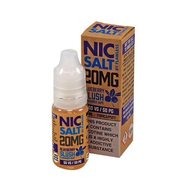 Flawless Blueberry Slush Nic Salt E-liquid 10ml - NewVaping
