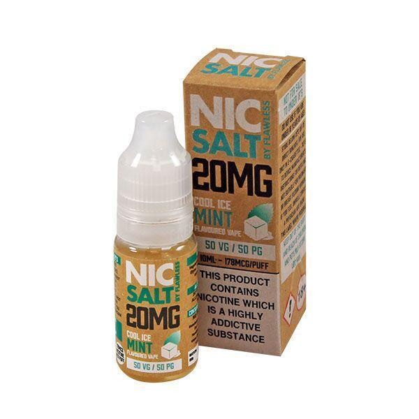 Flawless Cool Ice Mint Nic Salt 10ml - NewVaping