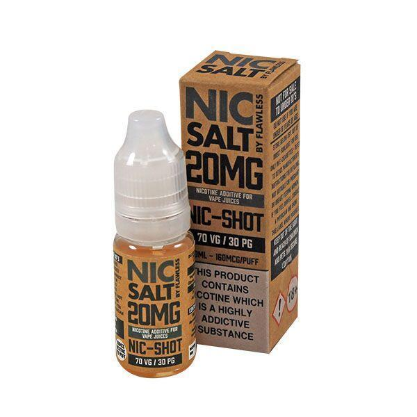 Flawless Nic Shot Nic Salt E-liquid 10ml - NewVaping