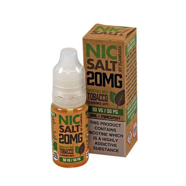 Flawless Smooth Rich Tobacco Nic Salt E-liquid 10ml - NewVaping