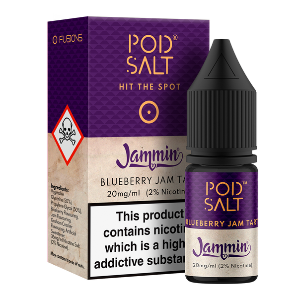 Pod Salt Fusions Blueberry Jam Tart Nic Salt 10ml