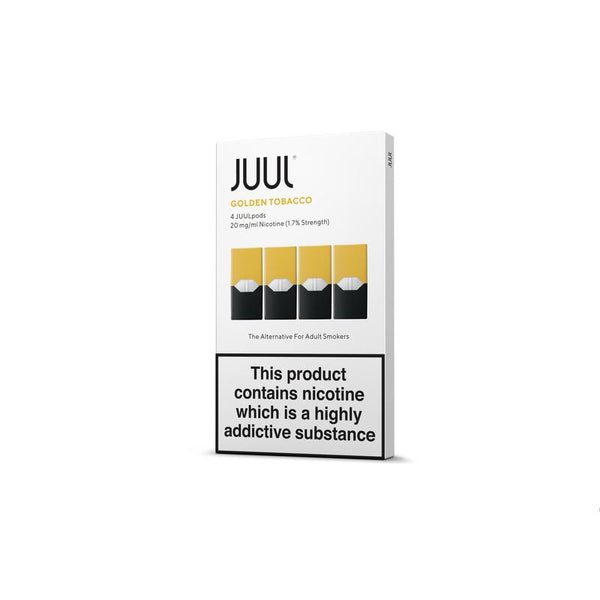 JUUL Golden Tobacco Nic Salt E-Liquid Prefilled Pods 4PCS