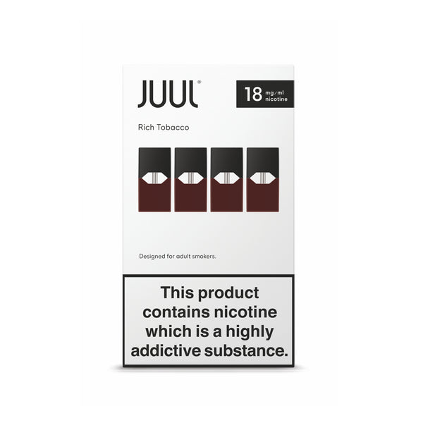 Juul Rich Tobacco Nic Salt E-liquid Prefilled Pods 4PCS