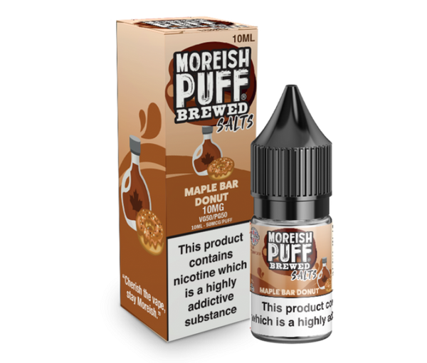 Moreish Puff Salts Brewed Maple Bar Donut Nic Salt 10ml