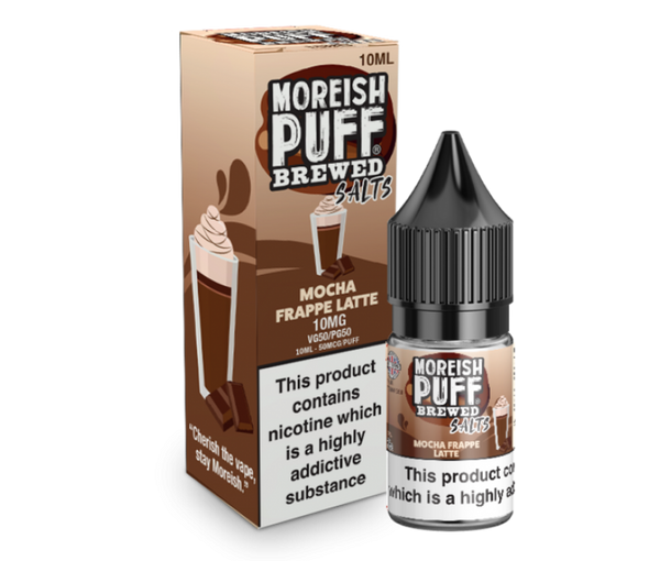 Moreish Puff Salts Brewed Mocha Frappe Latte Nic Salt 10ml