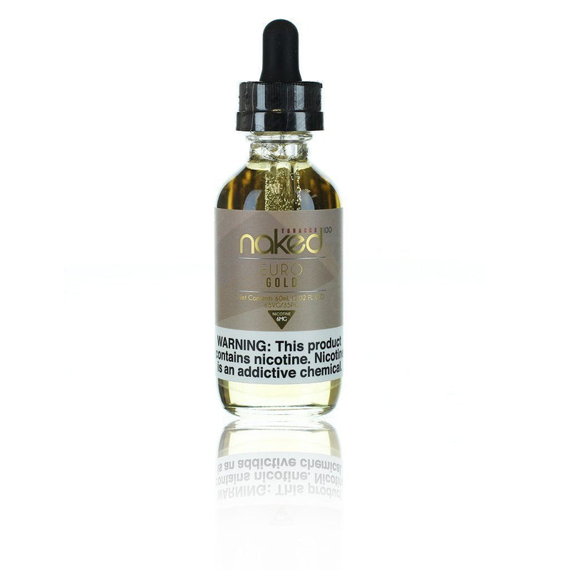 Naked 100 Euro Gold Shortfill E-liquid 50ml - NewVaping