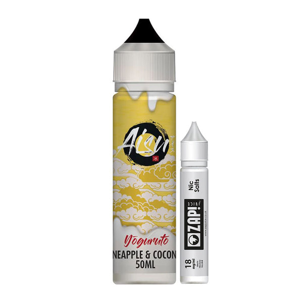 Zap! Juice Aisu Zero Ice Yoguruto Pineapple & Coconut Shortfill 50ml (Free Nic Shot Included)