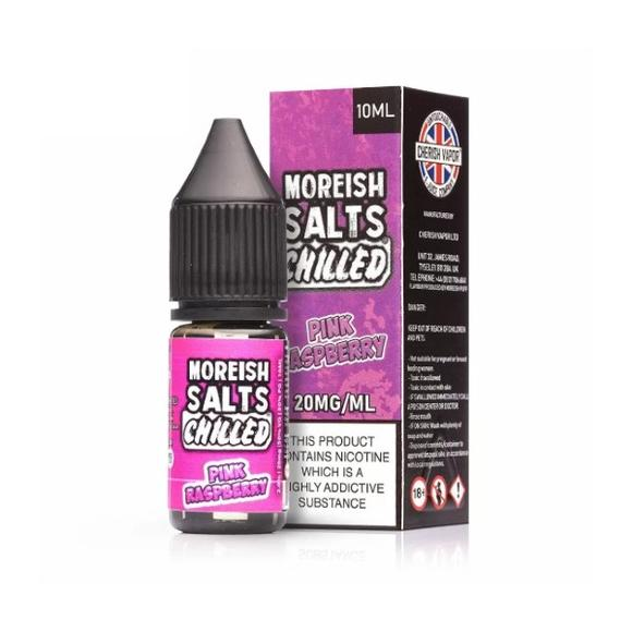 Moreish Puff Pink Raspberry Chilled Nic Salt E-liquid 10ml