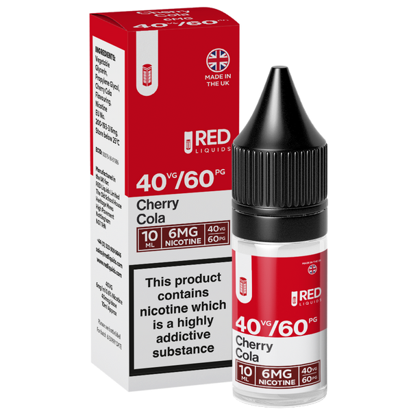 Red Liquids 40/60 Cherry Cola E-liquid 10ml