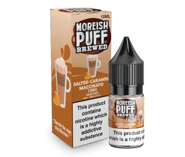 Moreish Puff Salts Brewed Salted Caramel Macchiato Nic Salt 10ml
