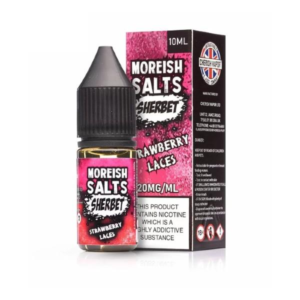 Moreish Puff Strawberry Laces Sherbet Nic Salt E-liquid 10ml