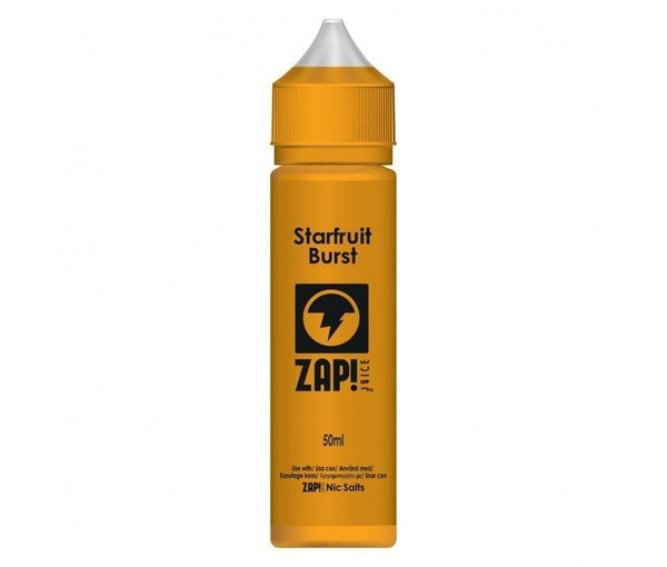 Zap! Juice Starfruit Burst Shortfill E-liquid 50ml (Free Nic Salt Included) - NewVaping