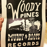 Woody Pines block print poster  18X24