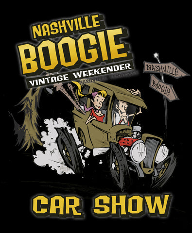 "Nashvile Boogie 2016 ""Car Show"" Ladies TShirt"