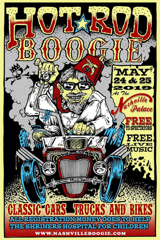 Hot Rod Boogie 2019 Shriner's Tee