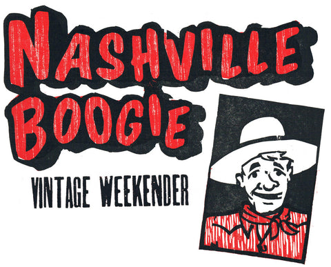 "Nashville Boogie ""Hatch Show Print"" Men's T-Shirt"