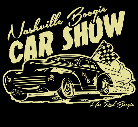 "Nashville Boogie ""Hot Rod Car Show"" Black T-Shirt"