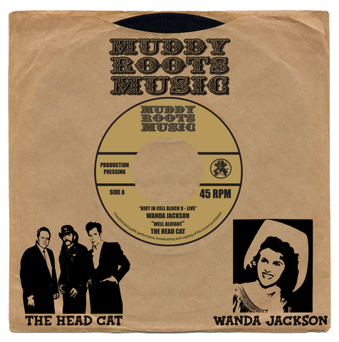 "Wanda Jackson/The Head Cat  7"" record 45rpm  (Lemmy-Wanda)"
