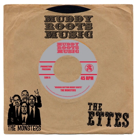 "THE MONSTERS/THE ETTES  7"" record 45 RPM"