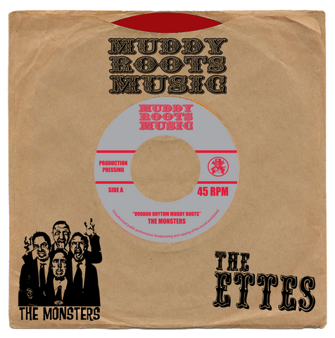 "THE MONSTERS/THE ETTES  7""  (RED VINYL) One time only pressing"