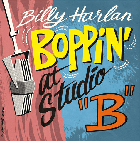 "Billy Harlan ""Boppin At Studio B"" CD"