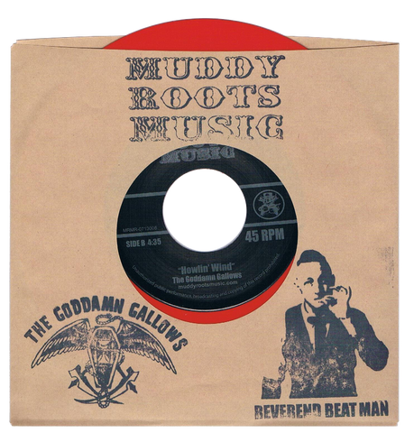 "RED VINYL Reverend Beat Man/Goddamn Gallows  7"" record 45 RPM"