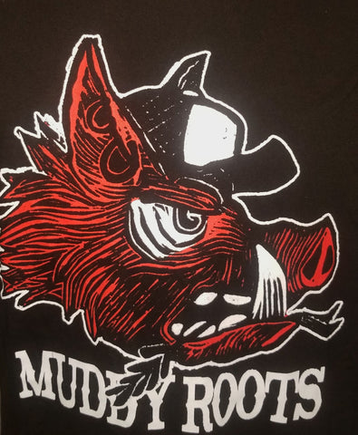 Muddy Roots Red Pig T-shirt - Women's