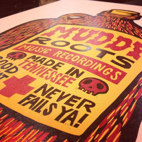 Muddy Roots Music Recordings (Jug) Hatch Show Print Poster (16x20)