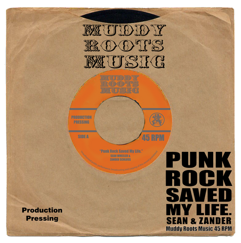 "*First Pressing* Sean Wheeler & Zander Schloss ""Punk Rock Saved My Life"" 7"" record"