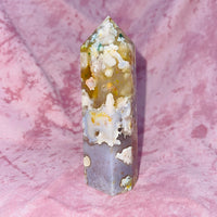 Large Cherry Blossom Agate Tower